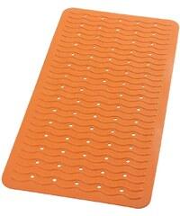 SAPHO - PLAYA podložka 38x80cm s protiskluzem, kaučuk, oranžová (68314)