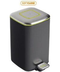 SAPHO - REGENT Odpadkový koš 12l, Soft Close, broušená nerez, černá (DR312)