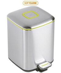 SAPHO - REGENT Odpadkový koš 6l, Soft Close, broušená nerez, stříbrná (DR301)