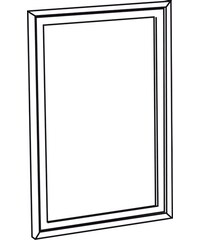 SAPHO - RETRO zrcadlo 70x115cm, starobílá (1686)