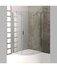 POLYSAN - VITRA LINE sprch. zástěna, čtvrtkruh 1000x800mm,R550,pravá,ovál.panty,čiré sklo (BN8918R)