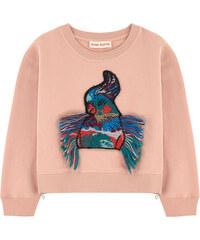 Anne Kurris Sweatshirt mit Patch Zip bird