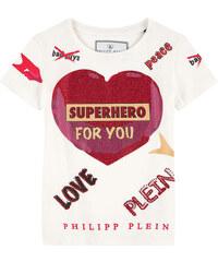 Philipp Plein T-Shirt mit Strass-Motiv