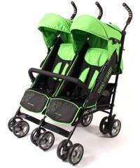 CHIC4BABY Buggy mit feststellbaren Vorderrädern Zwillingsbuggy green stars CHIC4BABY grün