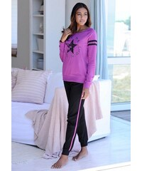 Langer Pyjama im Sports-Look Buffalo lila 32/34,36/38,40/42,44/46