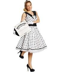 Rubies Rock and Roll - bílé šaty - 36