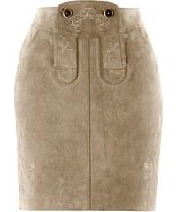bpc bonprix collection Kožená sukně s výšivkou bonprix