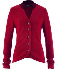 bpc bonprix collection Krojový pletený kabátek s kontrastním stojáčkem bonprix