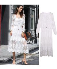 Lesara 2-in-1-Kleid im Spitzen-Design - S