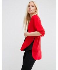 ASOS - Kimono avec manches fendues - Rouge