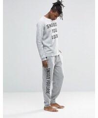 ASOS Loungewear - Pantalon de jogging moucheté avec imprimé - Gris