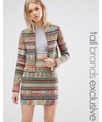 Glamorous Tall - Trophy - Jacke mit Azteken-Streifenmuster - Mehrfarbig