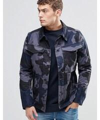 G-Star - Vodan - Veste en jean cintrée effet 3D avec imprimé camouflage - Gris