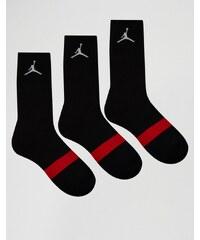 Nike - Jordan Drifit SX5241-013 - Lot de 3 paires de chaussettes - Noir - Noir