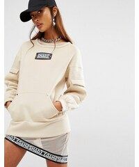 Shade London - Military-Sweatshirt mit Tasche vorne - Bronze