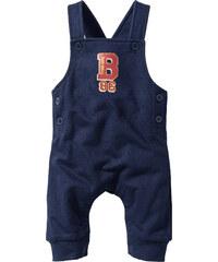 bpc bonprix collection Salopette bébé sweat coton bio, T. 56/62-104/110 bleu enfant - bonprix