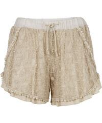 RAINBOW Short double épaisseur avec dentelle beige femme - bonprix