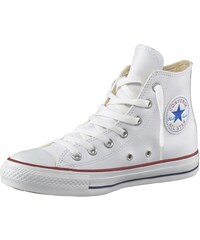 Große Größen: Converse All Star Basic Leather Sneaker, Weiß, Gr.36-44