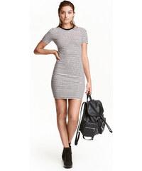 H&M Šaty z žebrovaného žerzeje