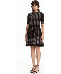 H&M Šaty z žakárového úpletu