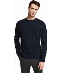 H&M Pletený svetr z bavlny premium
