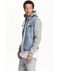 H&M Džínová bunda s kapucí