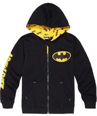 Batman Sweatjacke schwarz in Größe 104 für Jungen aus 80% Baumwolle 20% Polyester