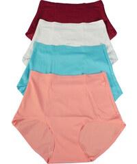 Design Caissa bezešvé kalhotky s vyšším pasem - 3ks L MIX