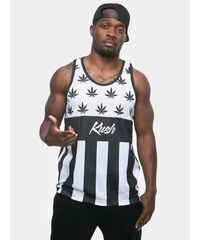 Kush Leaves Tank Top White Black