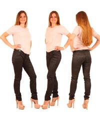 Lesara Slim Fit-Hose in Leder-Optik - 32
