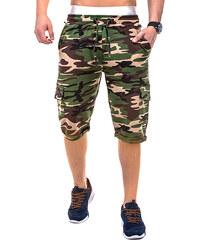 Lesara Sweat-Cargoshorts mit Camouflagemuster - S