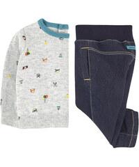 Catimini Pullover mit Motiv und Molton-Jeans