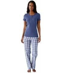 Karierte Basic Loungehose aus gewebter Qualität Schiesser bunt 34,36,38,40,42,44,46,48