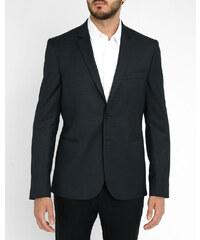 PAUL SMITH PS Marineblaue Slim-Jacke aus Wolle mit kleinen Punkten