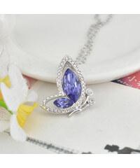 Lesara Halskette mit Swarovski Elements-Anhänger Schmetterling - Violett