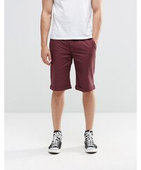 Brooklyn Supply Co - Short chino skinny - Bordeaux - Rouge