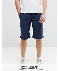 Brooklyn Supply Co - Enge Chino-Shorts in Marineblau - Marineblau