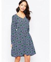 Closet London Closet - Robe à manches longues avec imprimé floral - Violet