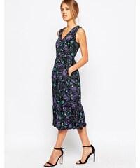Closet London Closet - Retro-Kleid mit Rüschensaum und Affen-Print - Schwarz