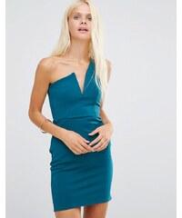 Daisy Street - Kleid mit One-Shoulder-Träger - Blau