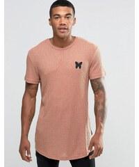 Good For Nothing - T-shirt côtelé avec petit logo - Orange
