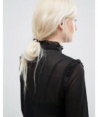 Kitsch - Lot d'élastiques à cheveux avec barre en similicuir - Multi