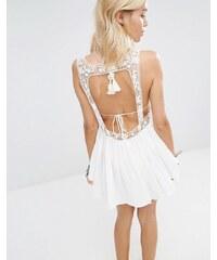 Surf Gypsy - Mini robe de plage en crochet - Blanc - Blanc