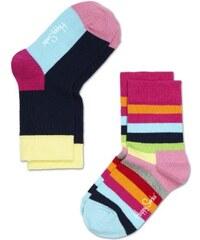 Happy Socks Unisex Baby Socken 2-pack Stripe