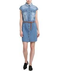 Berydale Damen Kleid mit Gürtel aus Jeansstoff