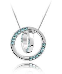 Lesara Halskette mit Swarovski Elements im Ring-Design - Blau