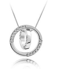Lesara Halskette mit Swarovski Elements im Ring-Design - Weiß