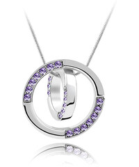 Lesara Halskette mit Swarovski Elements im Ring-Design - Violett