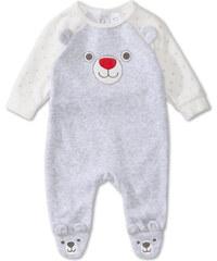 C&A Baby-Schlafanzug in Velours-Qualität in Grau