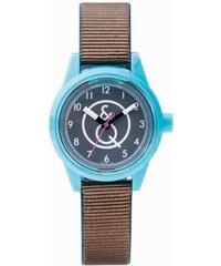 Q&Q Smile Solar braun türkise Armbanduhr RP01J004Y